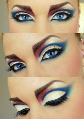 maquillaje de la mujer maravilla artistico
