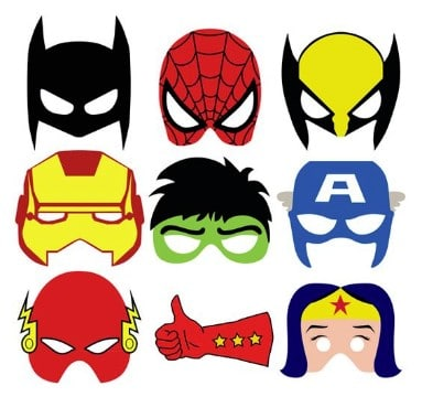 mascaras de superheroes para imprimir a color