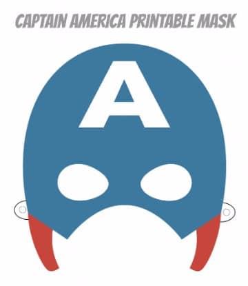 mascaras de superheroes para imprimir de capitan america