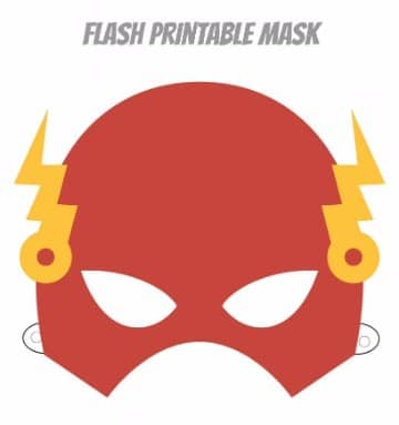 mascaras de superheroes para imprimir de flash