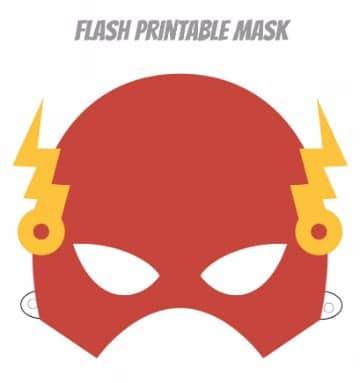 mascaras de superheroes para imprimir de flash