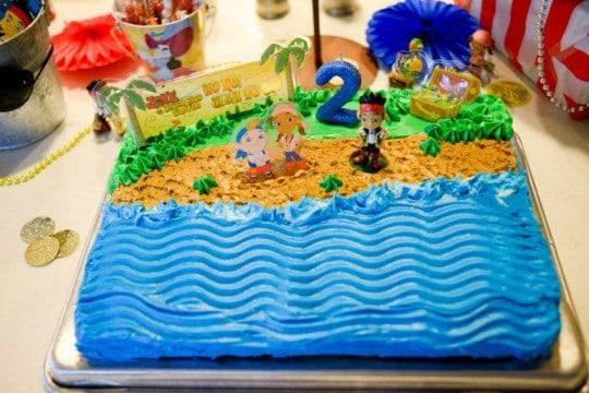 tortas de jake el pirata cuadradas