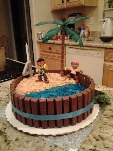 tortas de jake el pirata kit kat