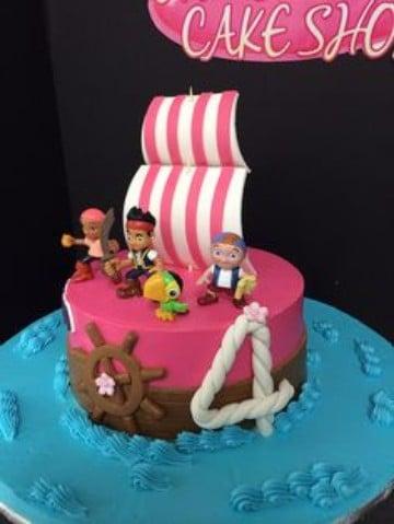 tortas de jake el pirata para niñas