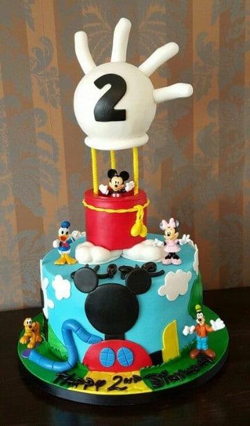 tortas de mickey mouse bebe paso a paso