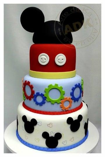 tortas de mickey mouse bebe sencillas