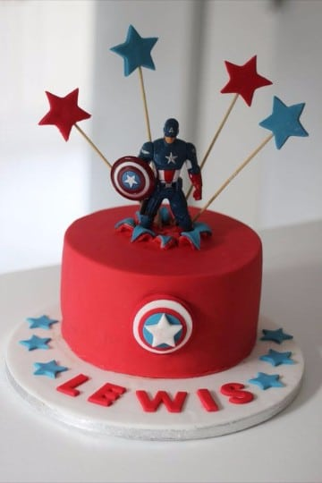 tortas del capitan america infantiles